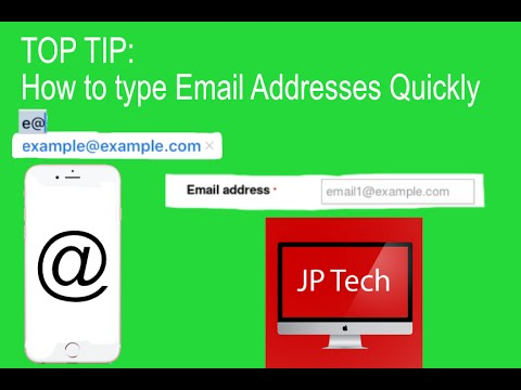 How To Type Email Addresses Quickly Youtube