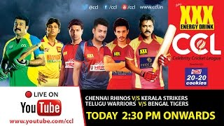 CCL 5 LIVE - Chennai Rhinos  V/s Kerala Strikers