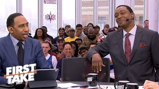 Isiah Thomas gets booed by the First Take crowd for his Bulls-Pistons take