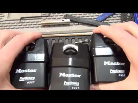 Взлом двери без повреждений (отмычки) Masterlock   (256) Master Lock Pro Series 6327