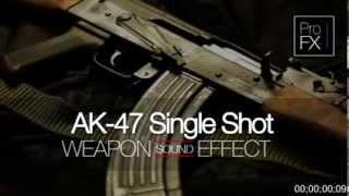 AK47 Sound Effect Single Shot  Gun Sound Effects Sound FX Free Sound  YouTube HD 720