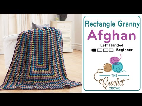How to Crochet an Afghan: Rectangle Granny Afghan Left ...