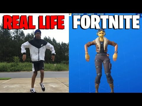 Fortnite Dances in Real Life That Are 100% in Sync..! (JayWalk Emote)