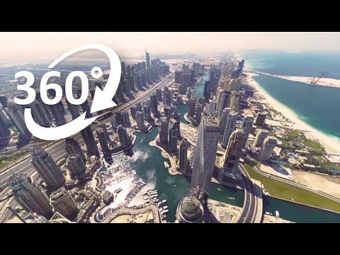 (4K) 360: Dubai's waterfront from above - Visit Dubai