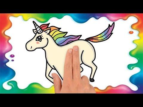 Cum Sa Desenezi Un Unicorn Pas Cu Pas Pentru Copii Youtube