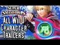 Super Smash Bros Wii U ALL Character Trailers