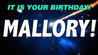 HAPPY BIRTHDAY MALLORY! This is your gift.