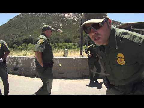 US Border Patrol Break In Driver Window Cam, Pine Valley, California, 31 May 2013, Lawless DHS