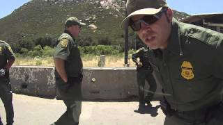 US Border Patrol Break In Driver Window Cam, Pine Valley, California, 31 May 2013, Lawless DHS