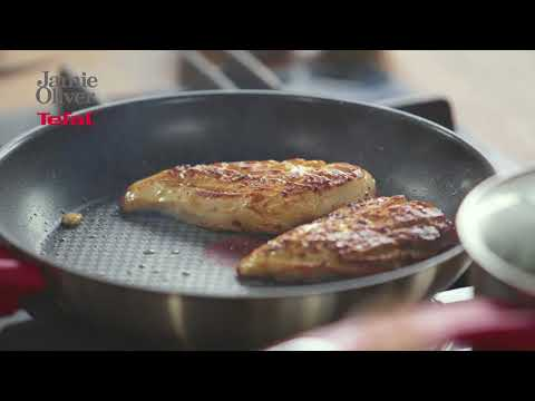 How To Make Chicken Breast And Mint Sauce With Jamie Oliver's Tefal Stainless Steel Cookware