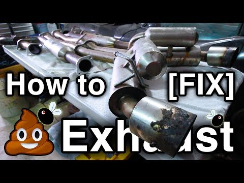 How To Clean [FIX] 💩 Exhaust Pipes [What Color is VHT Satin Clear?? // Infiniti G35 Build]