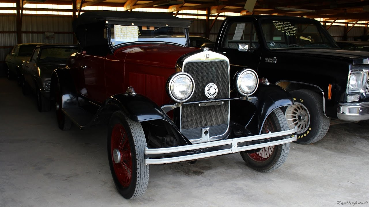 1929 Plymouth Roadster at Country Classic Cars - YouTube