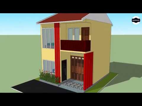 desain rumah minimalis 6x7 meter | 2 lantai | 3 kamar