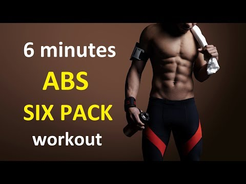 6 min ABS workout & core training for Six Pack at home for men & women