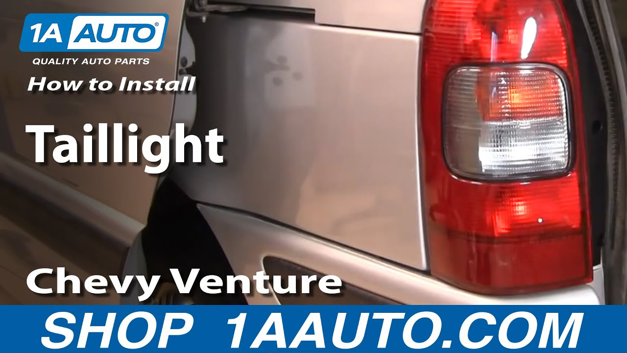 how to install replace taillight chevy venture pontiac