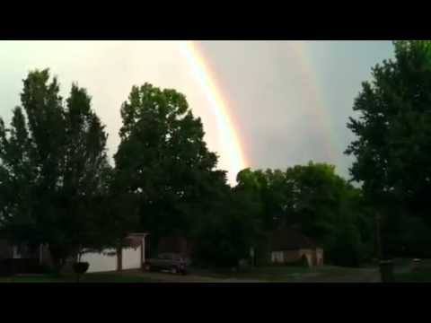 Rainbow after Joplin tornado