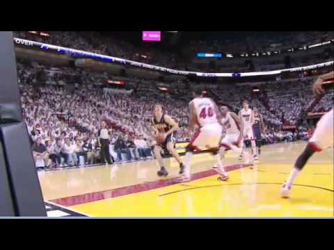 Udonis Haslem flagrant foul on Tyler Hansbrough Heat-Pacers Game 5