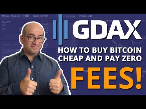 How To Buy Bitcoin Cheap And Pay No Fees On GDAX!