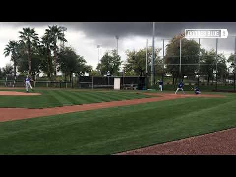 Dodgers Spring Training: Joe Kelly throws Live BP to Alex Verdugo, Gavin Lux