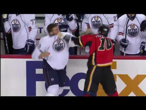 Brian Mcgrattan vs Steve Macintyre - October 24th, 2009 - Flames vs Oilers (HD)