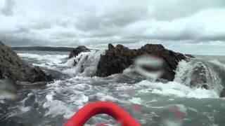 kayaking at pwll gwaelod pembrokeshire wales