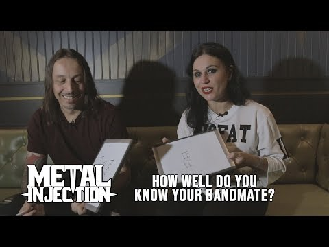 "LACUNA COIL Plays ""How Well Do You Know Your Bandmate?"" 