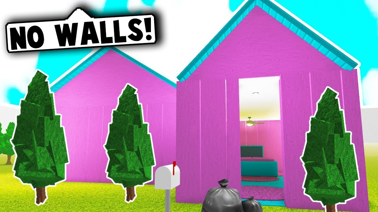 I Spent 24 Hours In Someones House Roblox Bloxburg Youtube - I Did The No Walls House Challenge Roblox Bloxburg Youtube