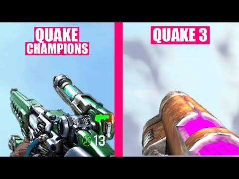 Quake Champions Gun Sounds vs Quake 3