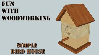 How to make a quick, simple, and easy bird house (re-upload with new music)