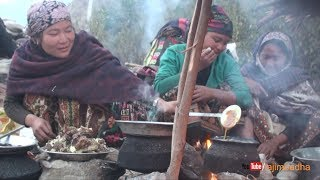 Cooking meat || village life ||