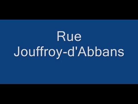 Rue Jouffroy d'Abbans Paris Arrondissement  17e
