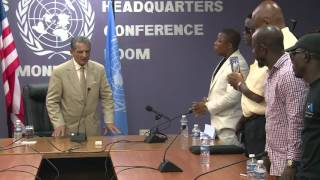 UNMIL SRSG Farid Zarif receives petition to extend mandate from Joint Action Committee
