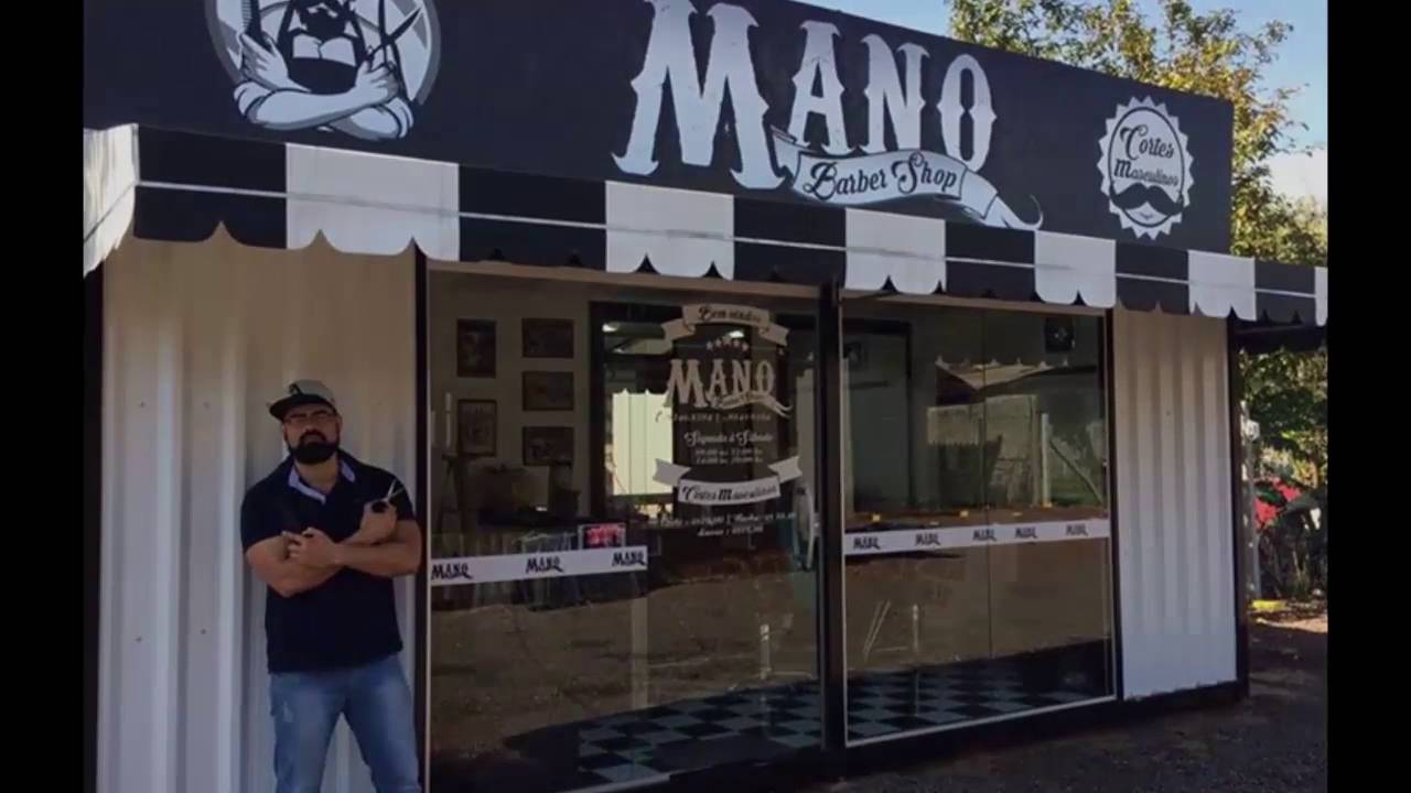 Shipping Container Trailer >> Container MANO BARBER SHOP ( trailer ) - YouTube