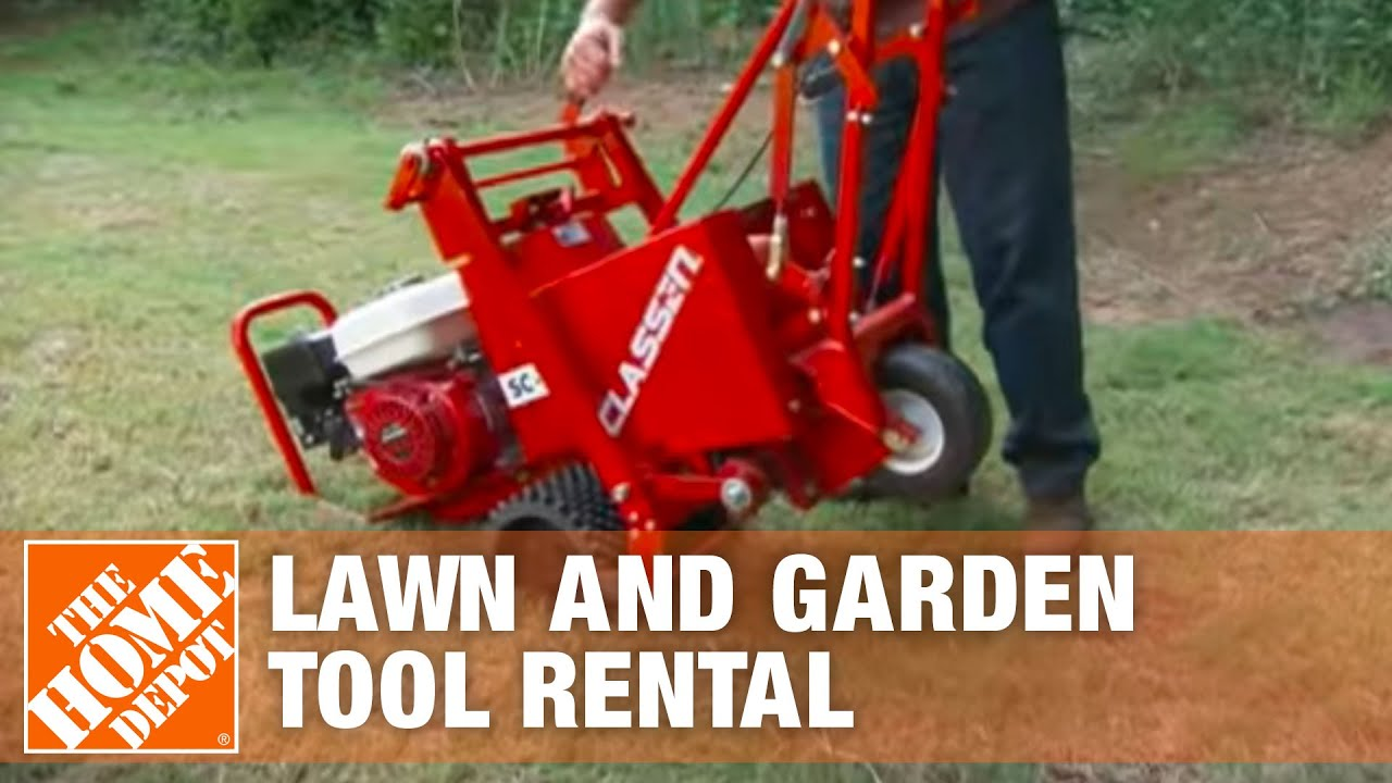 Lawn Tool Rental The Home Depot Youtube