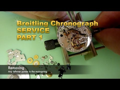 Service A Breitling Chronograph. Part 1. Dismantling The Movement. Watch Repair Series.