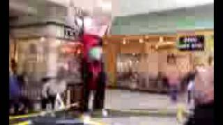 KENZIE JUMPING AT THE MALL