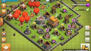 Mi primer video del mundo jugando Clash of clans