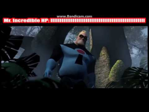 Mr. Incredible VS Omnidroid With Health Bars!