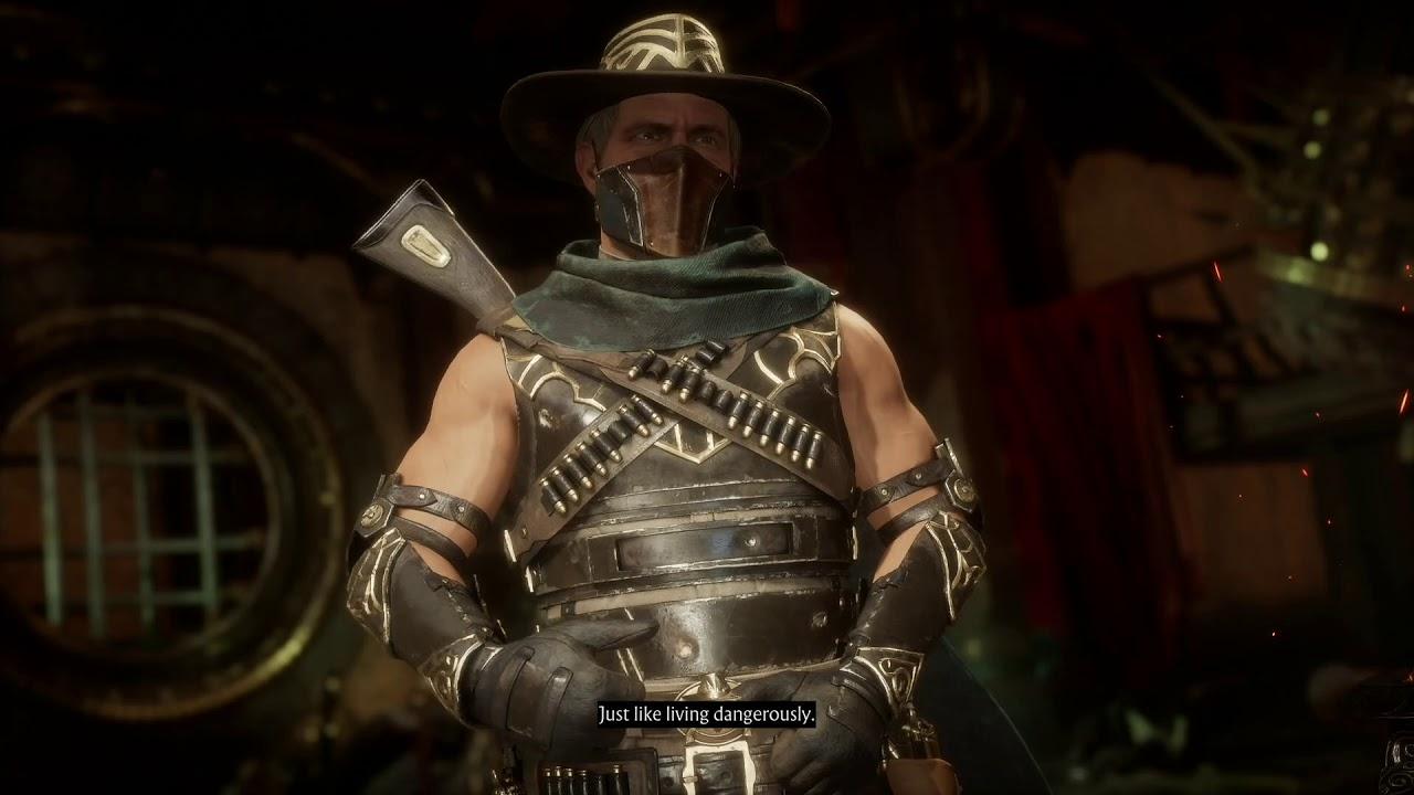 Mortal Kombat 11 - Erron Black vs Skarlet - All Intro Dialogues