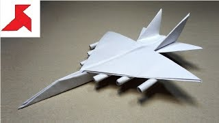 ✈ DIY - How to make a FIGHTER Plane with rockets from A4 paper?