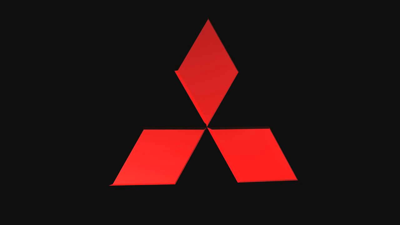mitsubishi 3d logo youtube