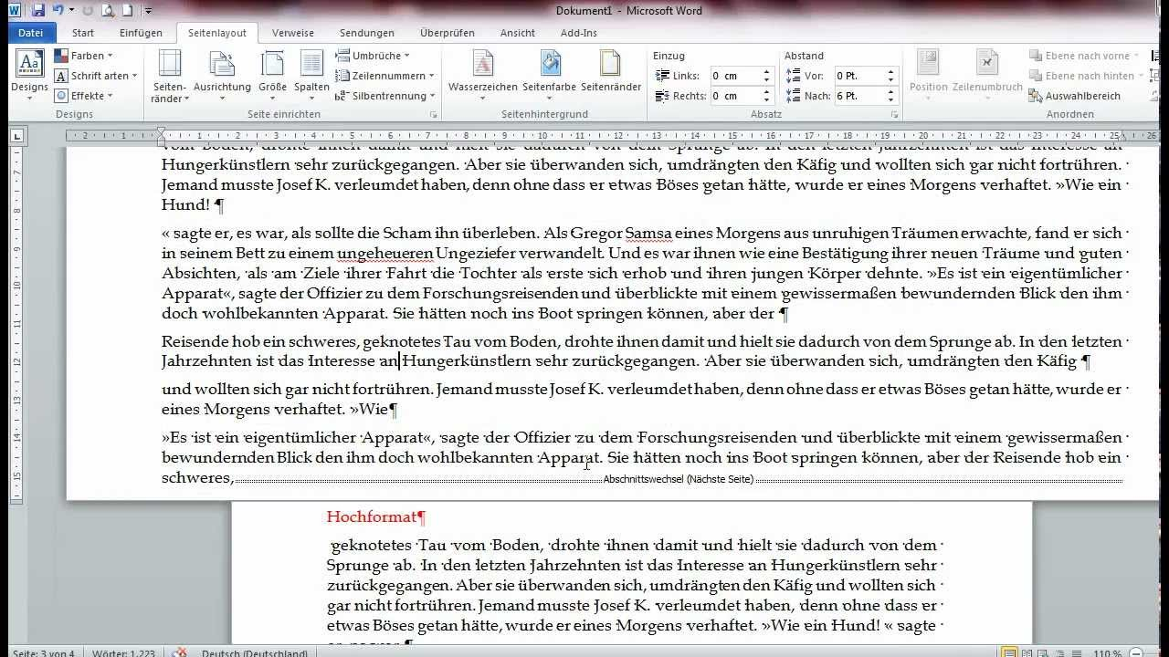 Office Tipps Einzelne Seiten Quer Formatieren Youtube