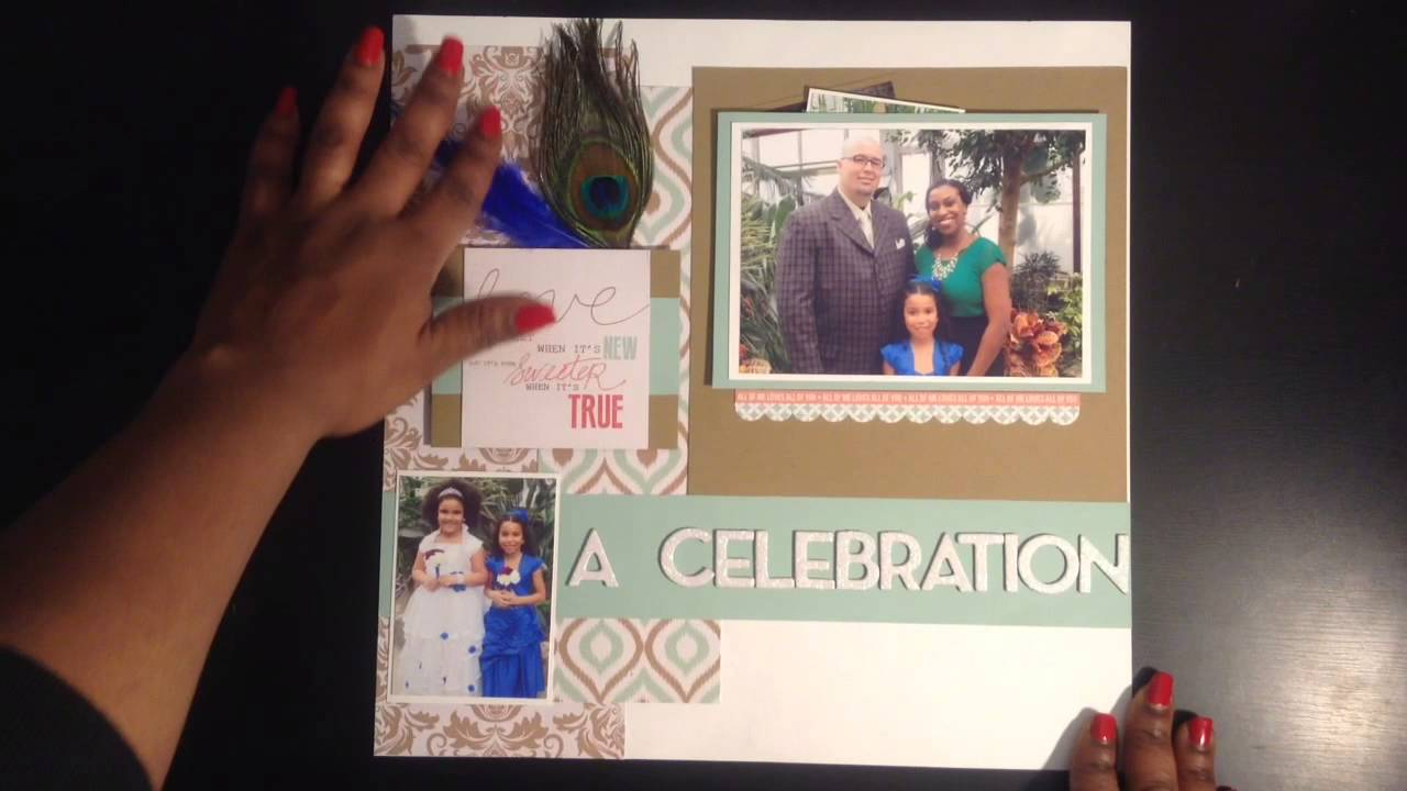 Close To My Heart Scrapbook Layouts Share Video 1 Youtube