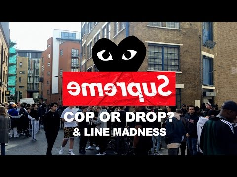 CDG X SUPREME SS17 | COP OR DROP? & SIGN UP MADNESS