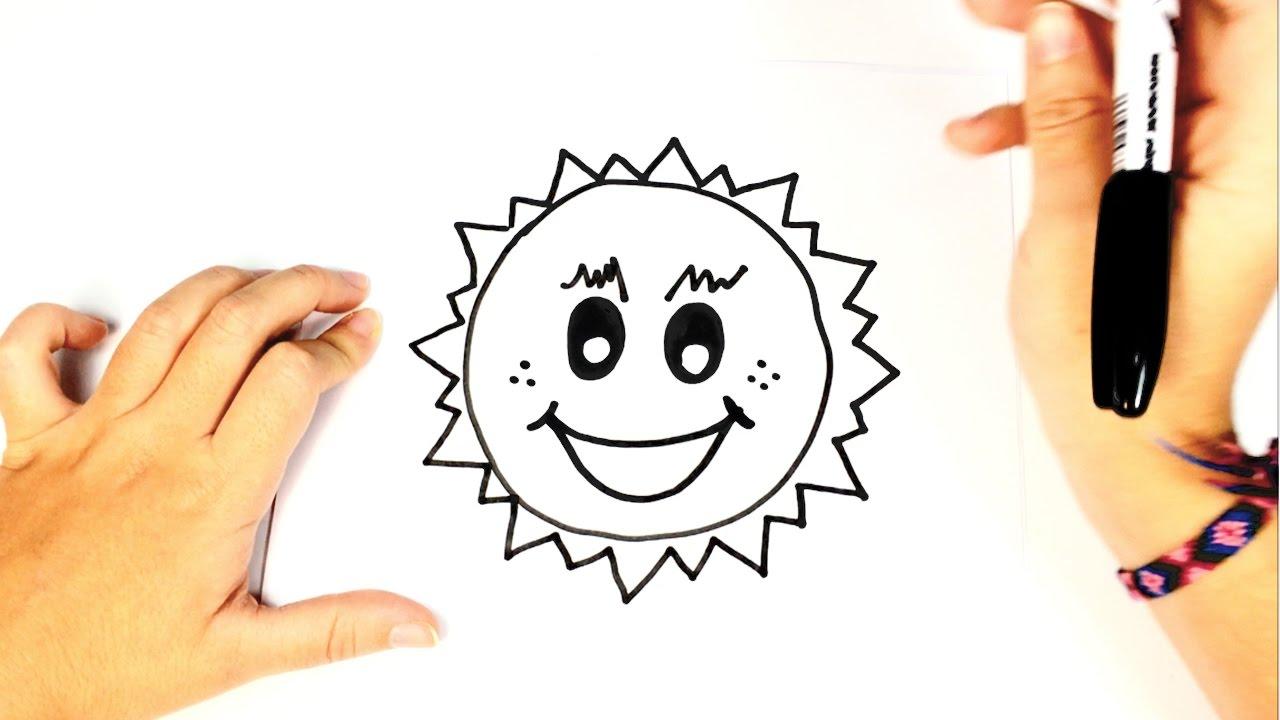 Cómo Dibujar El Sol Para Niños Paso A Paso