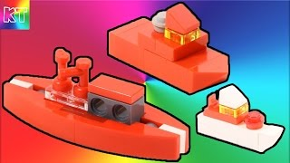 Lego mini Boats, ships Speed Build Review - Car for Kids