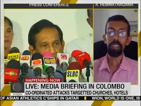Sri Lanka government addresses media a day after blasts