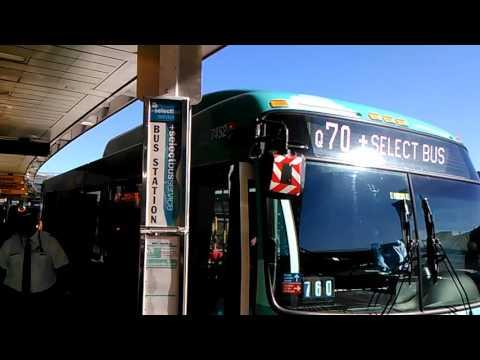 Exclusive: new LaGuardia link Q70 SBS at Terminal B in LaGuardia Airport