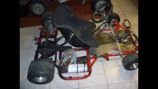karting électrique 3900w avec un alternateur de voiture en moteur brushless