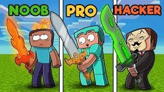 Minecraft - NOOB vs PRO vs HACKER - SWORDS!